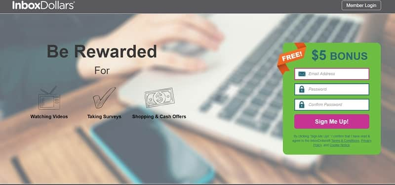 InboxDollars website